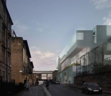 Edificio Reid en el campus de la Glasgow School of Art de Steven Hol