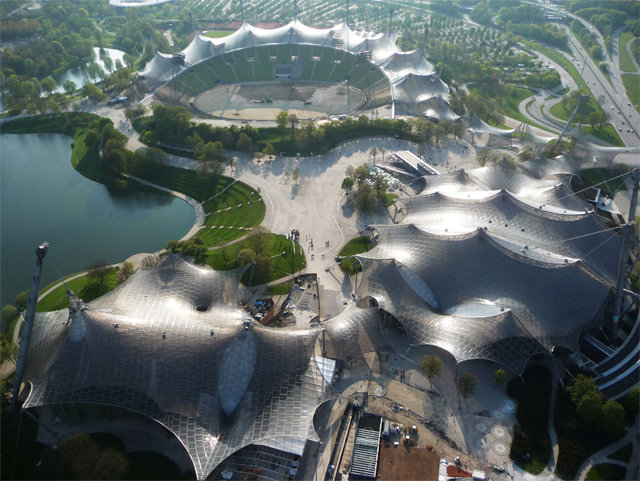 1-Frei-Otto-Roofing-for-main-sports-facilities-in-the-Munich-Olympic-Park
